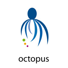 Logo octopus # Vector