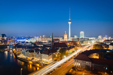 Berlin Night Scene