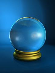 Fototapeta boule de verre (bleu) obraz