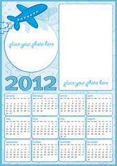 Calendario 2012 da bambino in inglese