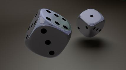 sliver dice closeup