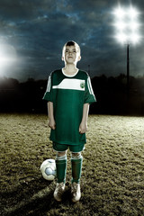 Junger Fußballheld