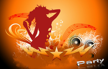 party background with silhouette