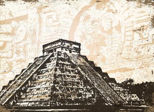 Antique Mayan Pyramid