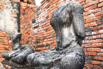 Headless and armless Buddha image in Ayutthaya