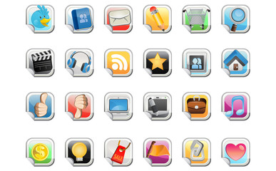 Social Media Sticker Icon