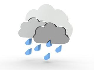 3d Icon Wolken