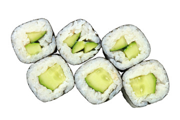 rolls with cucumber top view