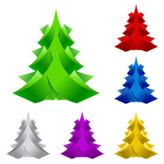Abstract Paper Christmas Tree.