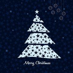 White Christmas tree background. Vector.