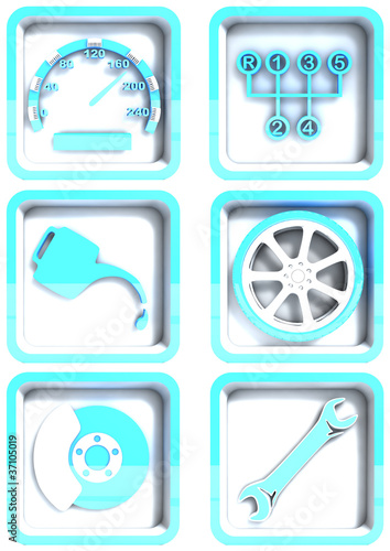 kfz werkstatt piktogramme stockfotos und lizenzfreie bilder auf bild 37105019. Black Bedroom Furniture Sets. Home Design Ideas