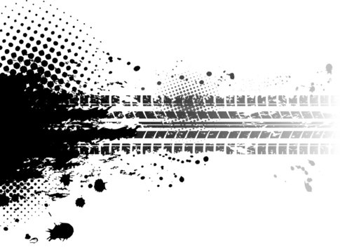 Grunge tire tracks background