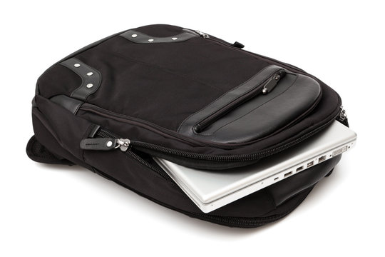 backpack with a laptop