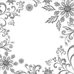Flower background, contours