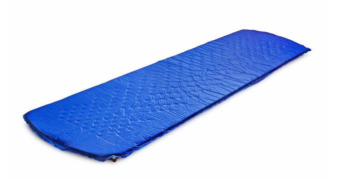 Blue light self-inflating travel sleeping mat