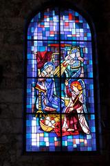 Photo sur Plexiglas Vitrail vitrail bleu