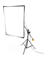 Studio flash on white background