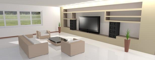 Salón en 3D