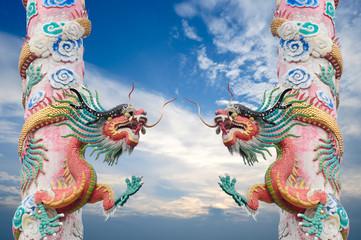 Dragon pole with clear sky