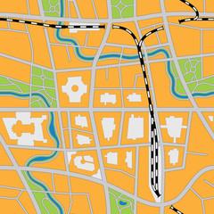 Foto op Plexiglas Op straat Imaginary city map (seamless vector image)