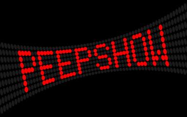 led lauftext peepshow I