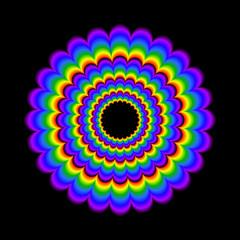 Poster de jardin Psychedelique psychedelic wheel