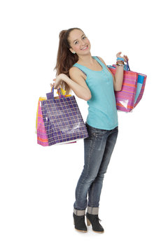 Adolescente 16 ans fait du shopping