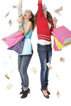 Argent shopping et joie intense