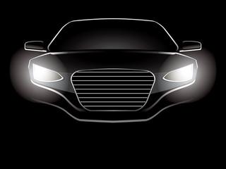 Abstract car vector