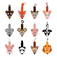 animal cursors vector
