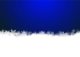 Schneekristalle, blauer Hintergrund, Winter, kristallklar