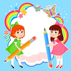 Poster Rainbow imagination and creativity