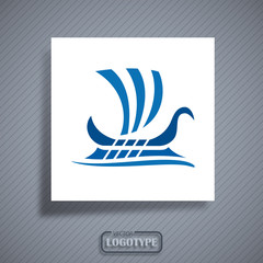 Logo Greek boat # Vector