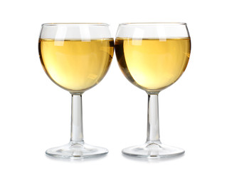 Two wine of glasses