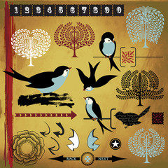Birds, Trees and Design Elements