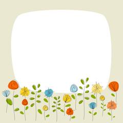 Fotobehang Lieveheersbeestjes Blumen Karte