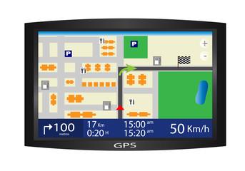 Vector de un navegador GPS