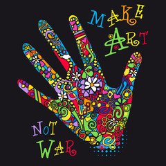 main paix signe symbole fleur