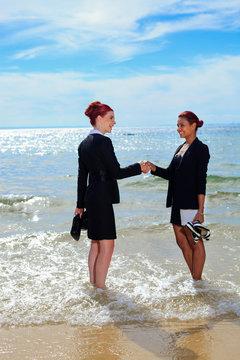 Corporate on the beach