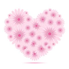 Vector creative heart of flowers