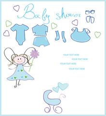 baby shower. new born card