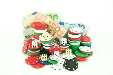 Casino tokens for roulette