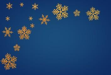 christmas snow gold