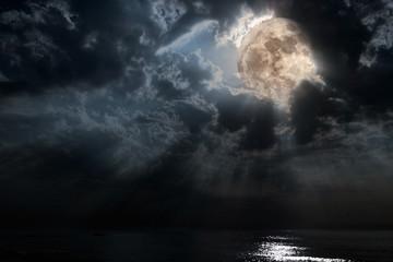 Moon light beams