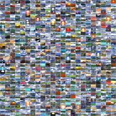 Collage von verschiedenen Landschaftsbildern