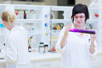 portrait of a female researcher carrying out research