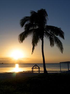 Tropical Caribbean Sunset in Santa Cayo Maria, Cuba