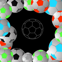 Background from balls.Vector illustration