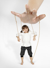 child girl - puppet