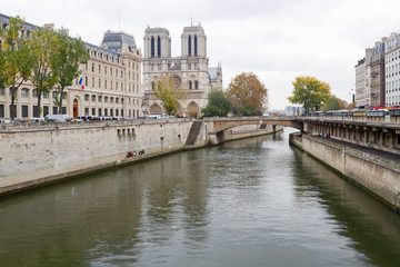 Notre Dame Of Paris And A Canal
